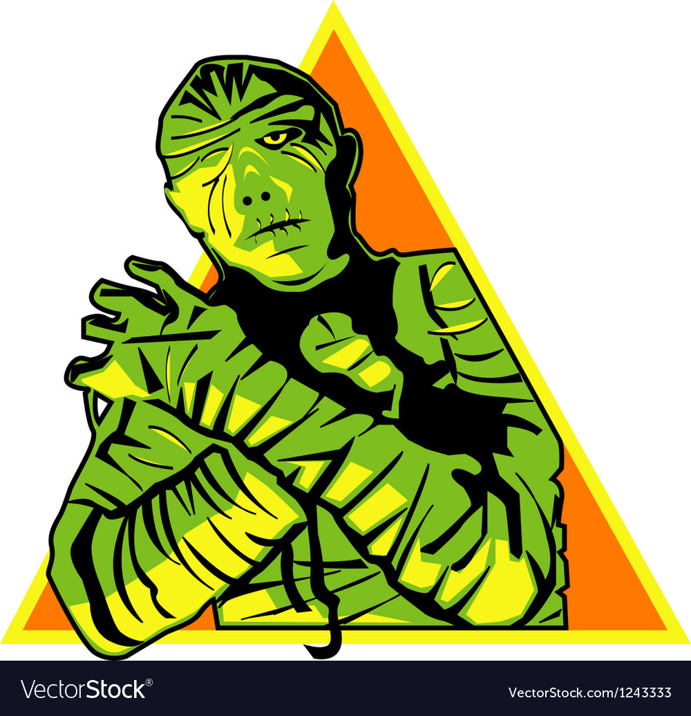 Mummy cartoon vector image
