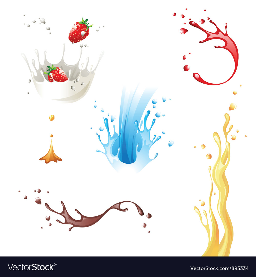 Splashes vector image