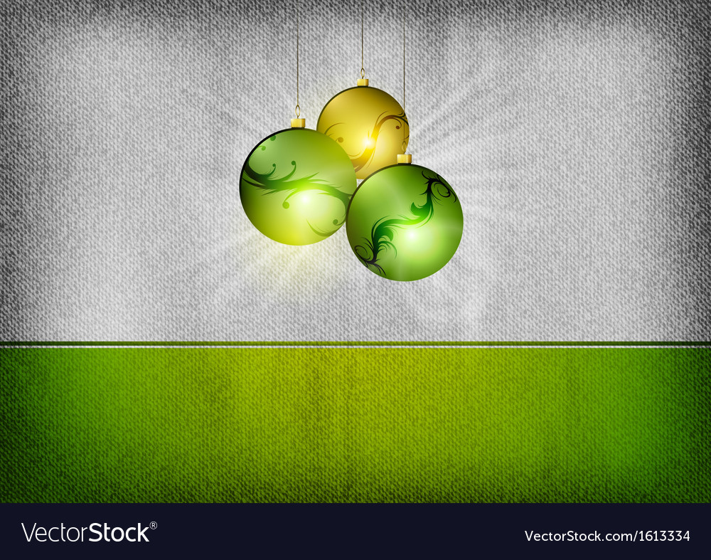 Christmas background grey green vector image