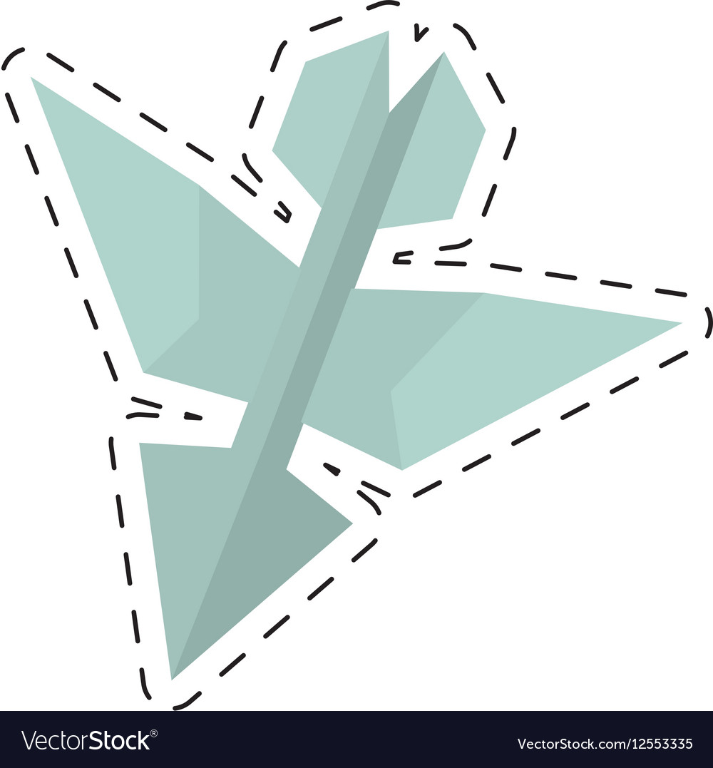 Paper aircraft launch route fly cut line vector image