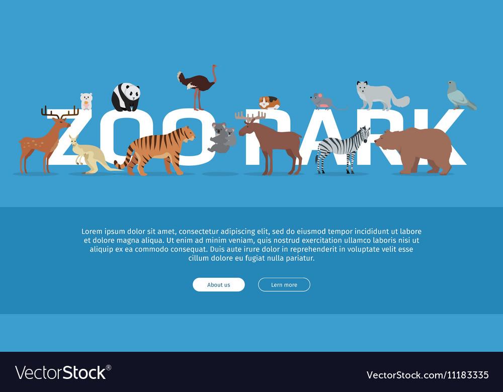 Zoo Park Banner Website Template vector image