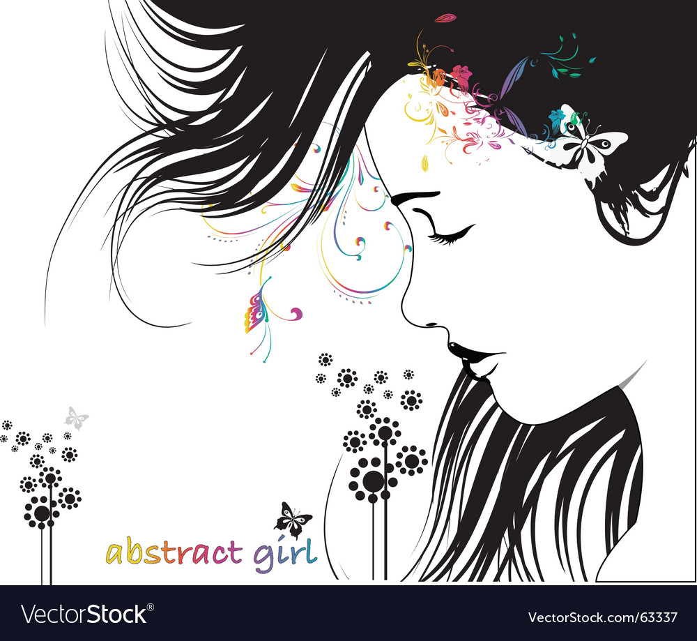 Abstract woman vector image