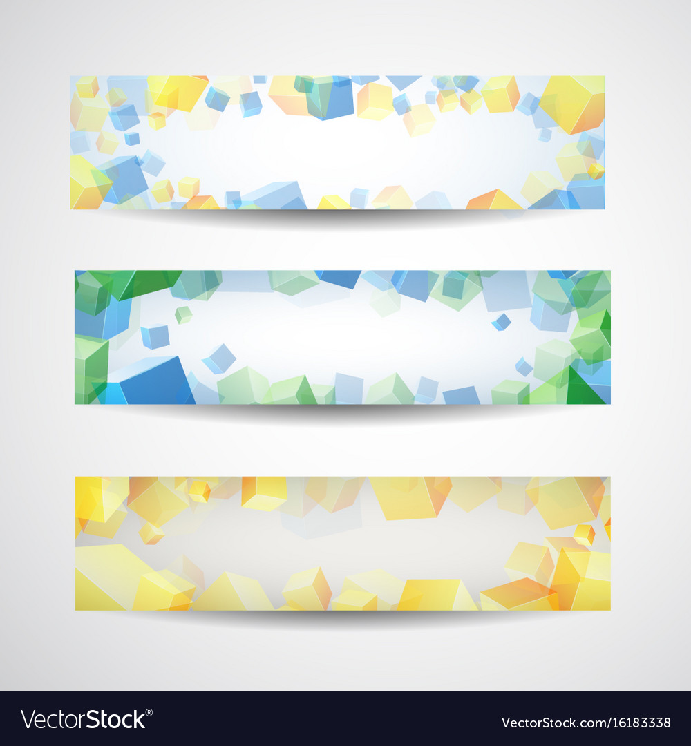 Abstract banner set for design vector image