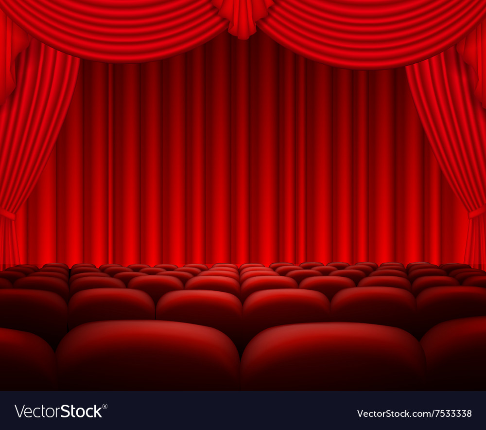 Cinema or theater scene background vector image