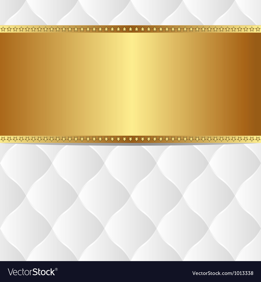 White gold background vector image