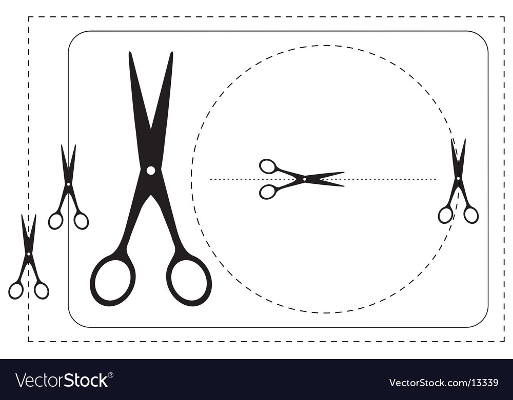 Frames and scissors Vector Image