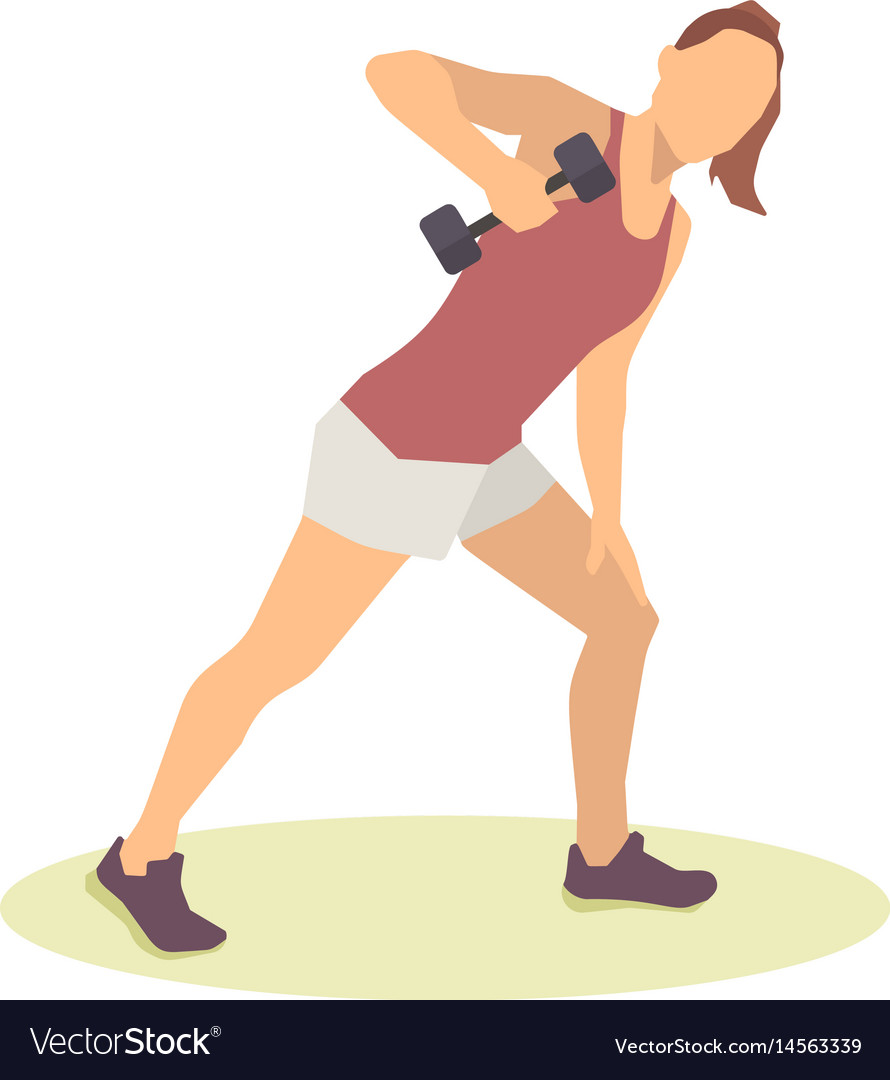 Group of fit people at the gym exercising vector image