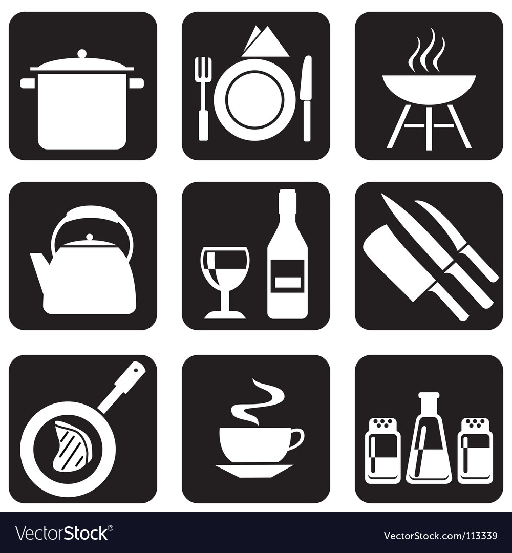 Icon food vector image