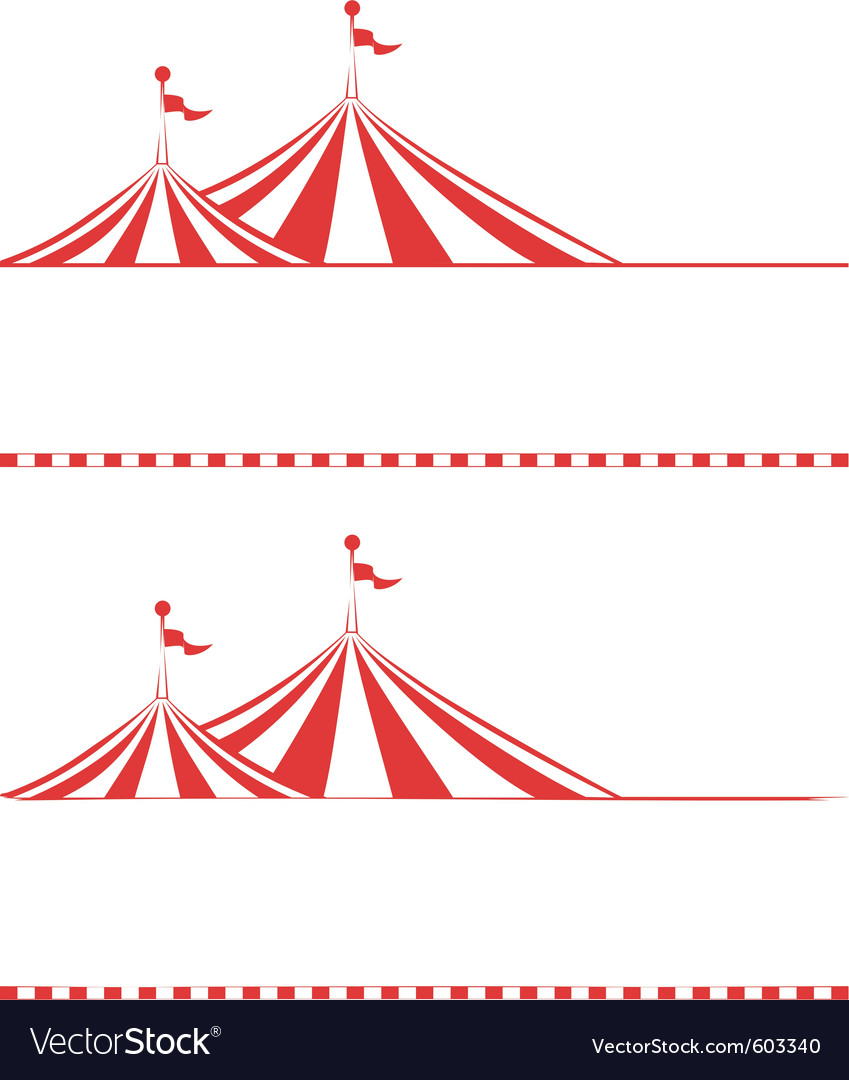 Tent borders vector image