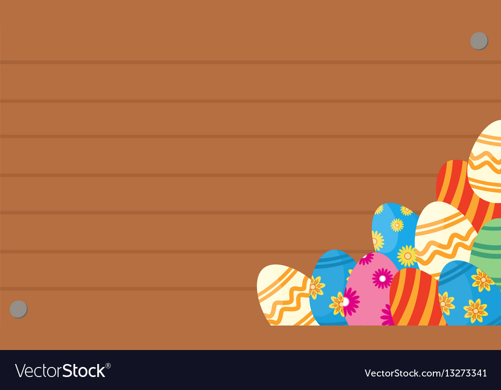 Greeting card of easter egg backgrounds vector image