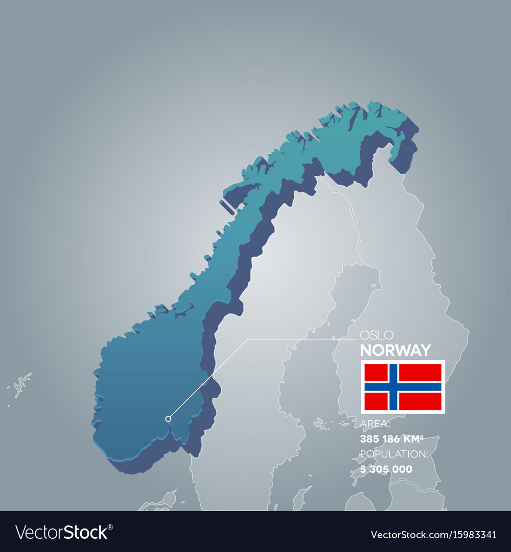 Norway information map vector image