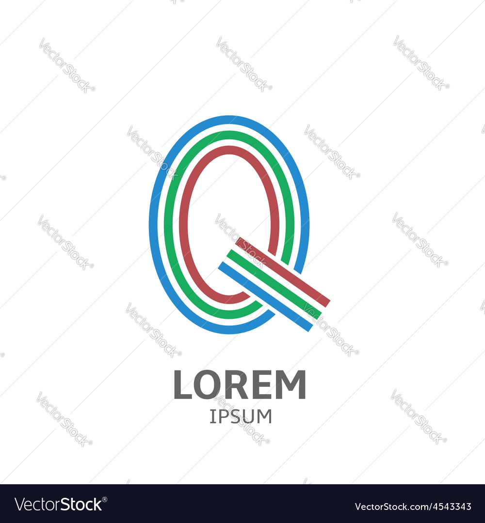 LOREM ipsum Q vector image