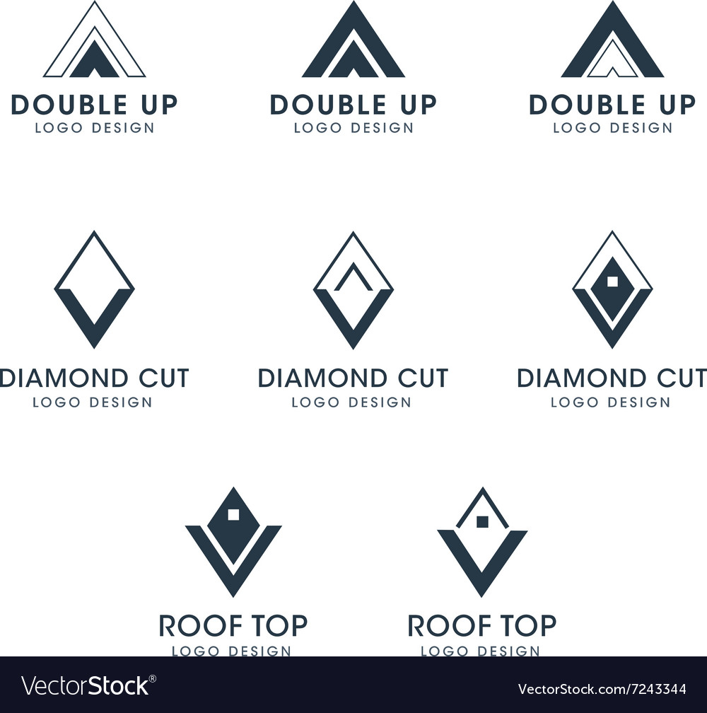 Arrows and Diamond Logos and Icons Royalty Free Vector Image