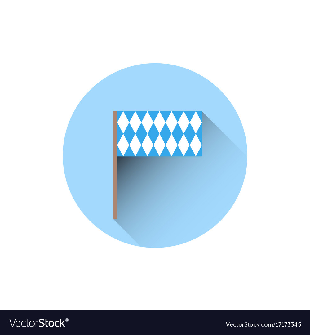 Bavaria flag icon oktoberfest festival holiday vector image