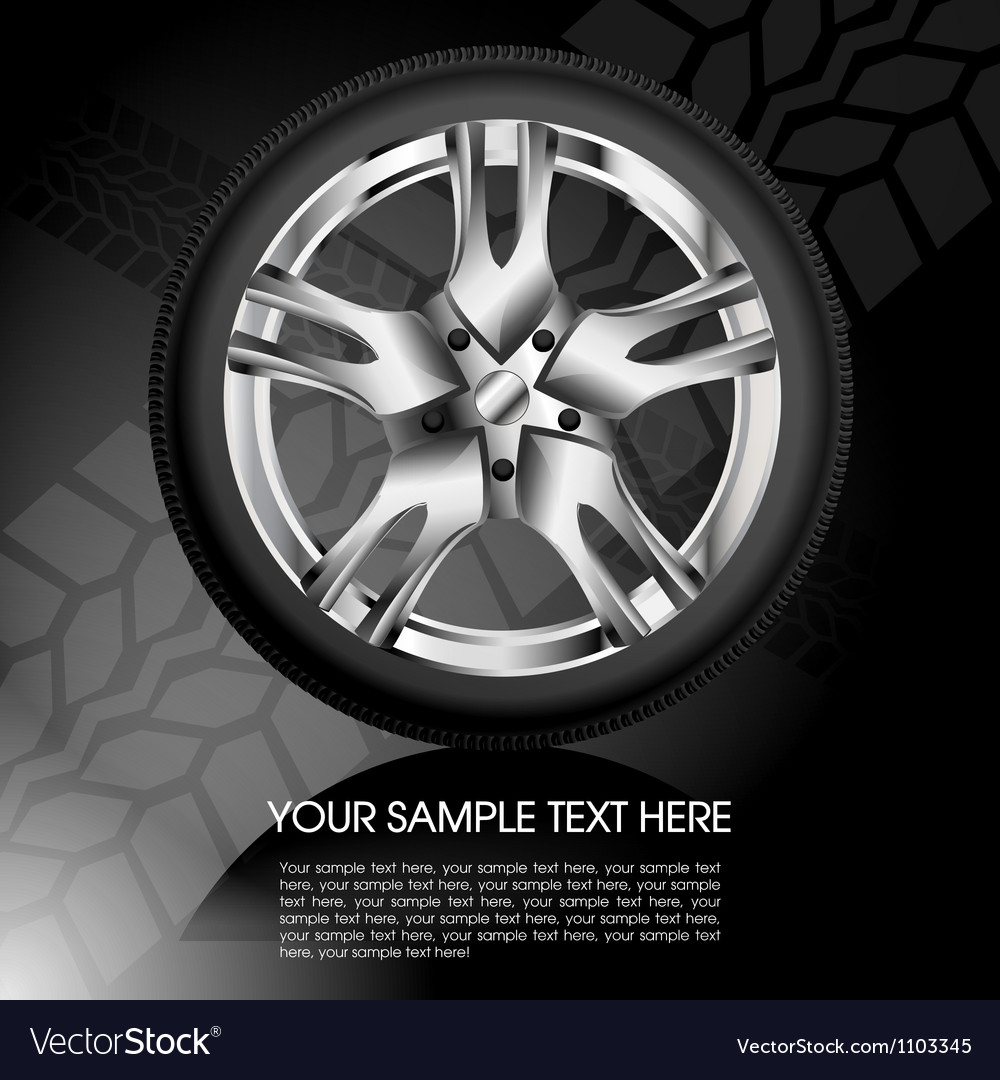 Shiny car wheel vector image