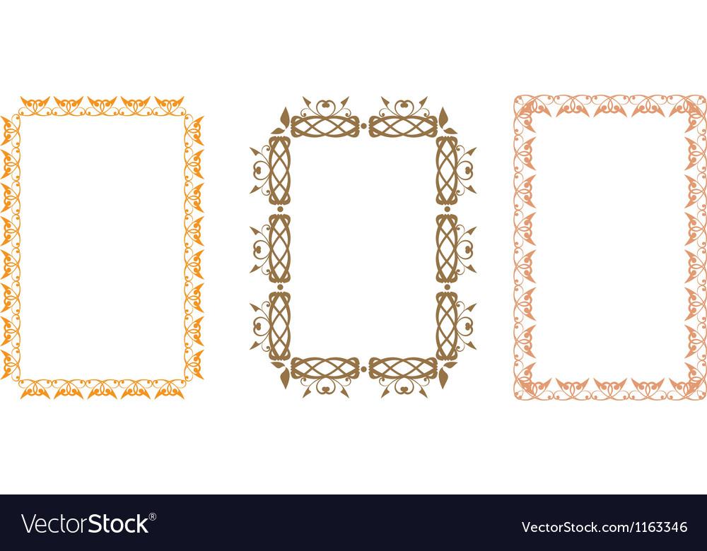 Slavic frame vector image