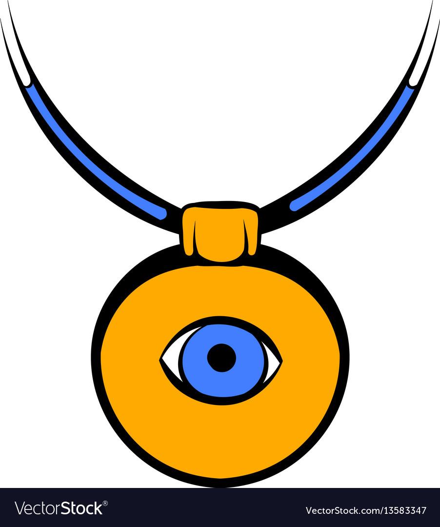 Greek evil eye symbol of protection royalty free vector amulet against the evil eye icon icon cartoon vector image buycottarizona