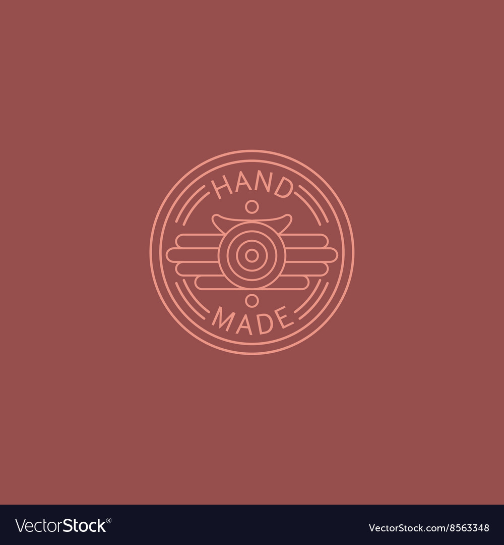 American Diner Style Hand Made Trademark vector image