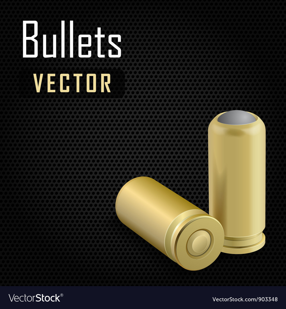 Pair bullets on black background vector image
