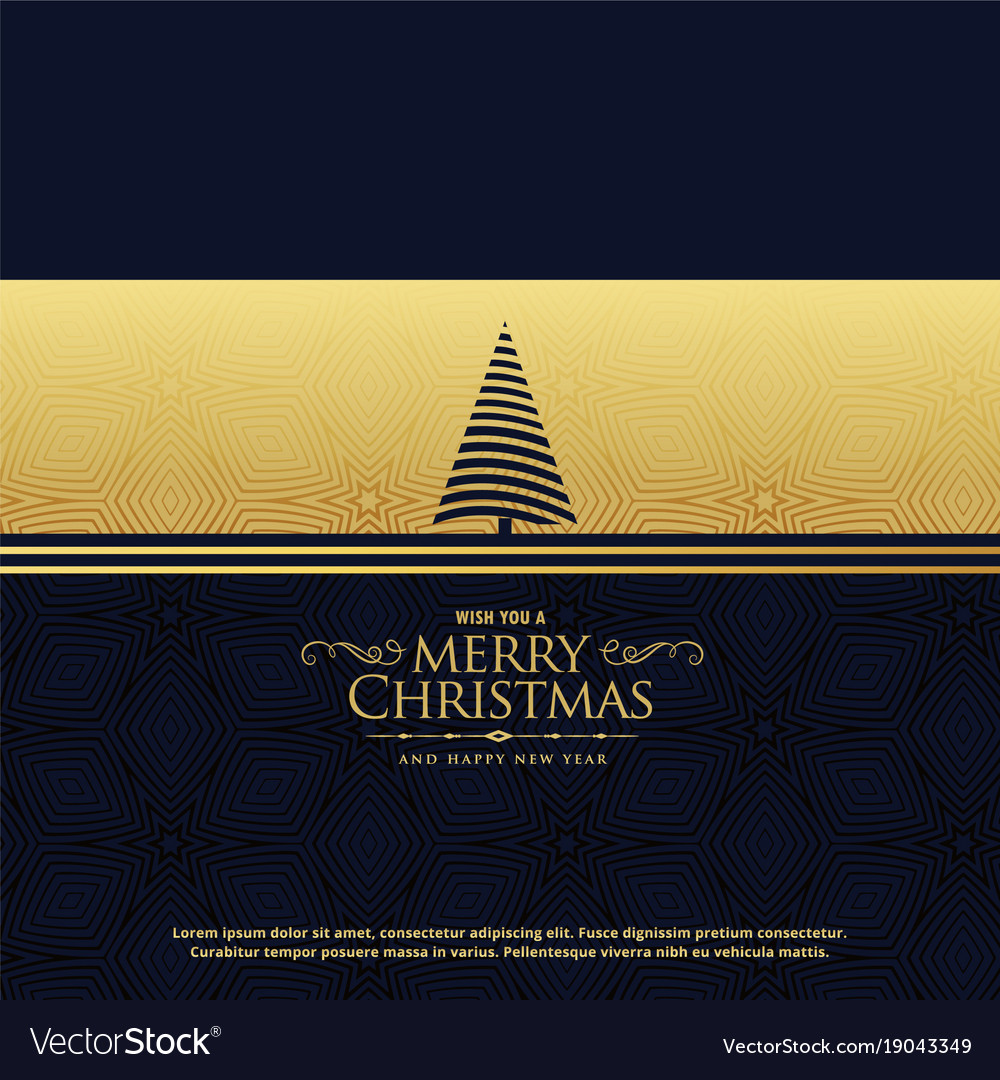 premium christmas holiday greeting card design in vector image