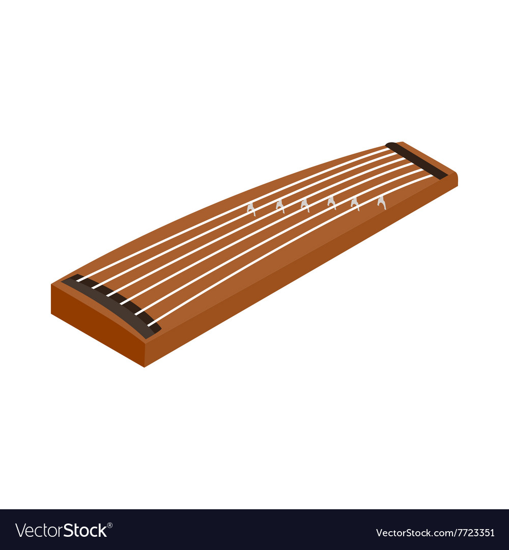 Koto a traditional musical instrument of Japan vector image