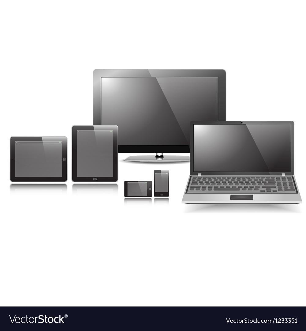 Responsive Display Set vector image