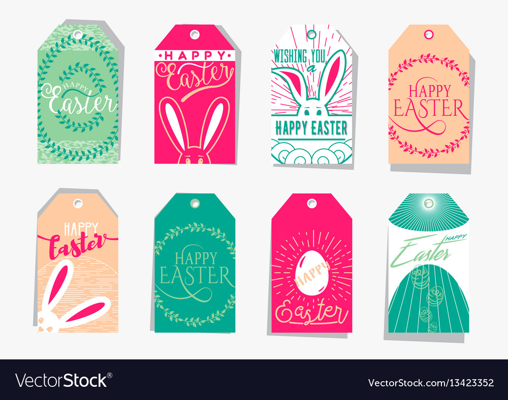 Easter gift tag set with royalty free vector image easter gift tag set with vector image negle Gallery
