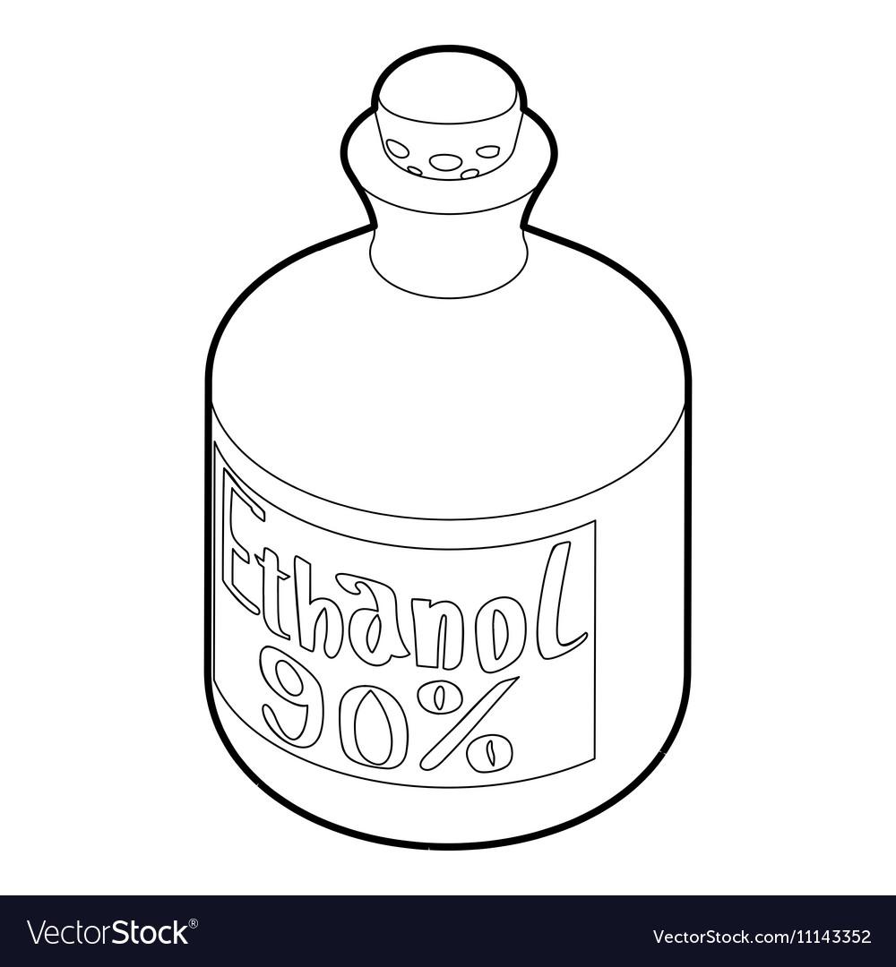 Ethanol in bottle icon outline style royalty free vector ethanol in bottle icon outline style vector image buycottarizona