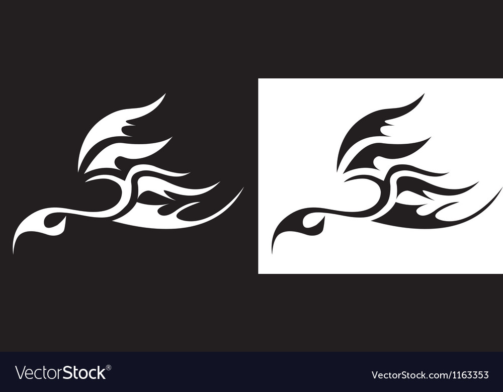 Tattoo bird vector image