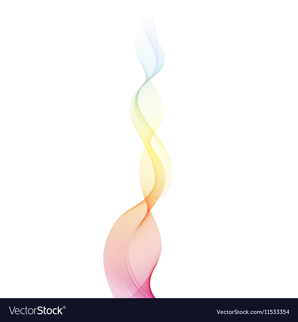 Abstract Smoke Shape Colorful Wave vector image