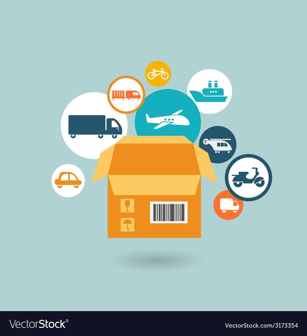 Delivery icon vector image