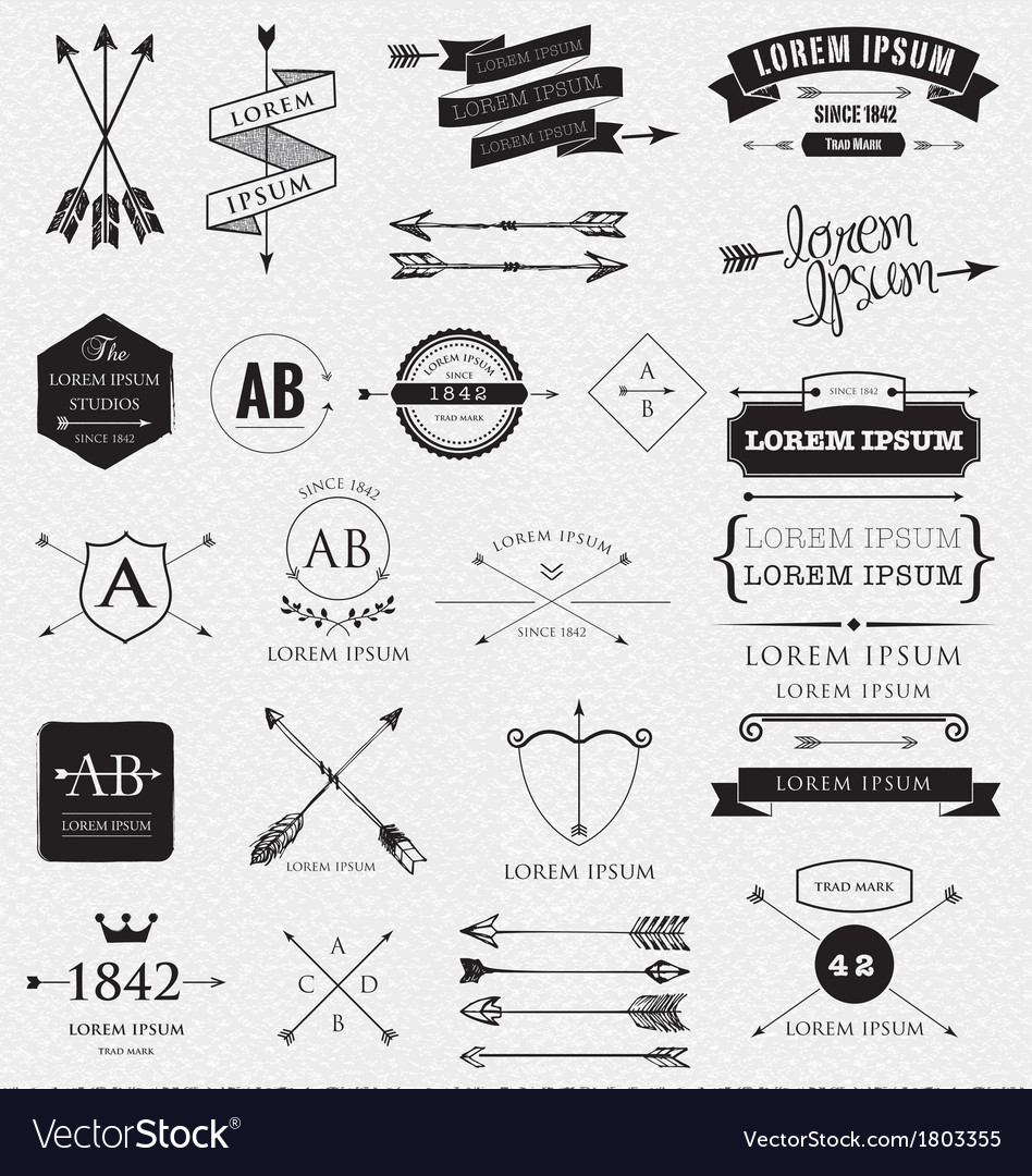 ARROWS design vector image