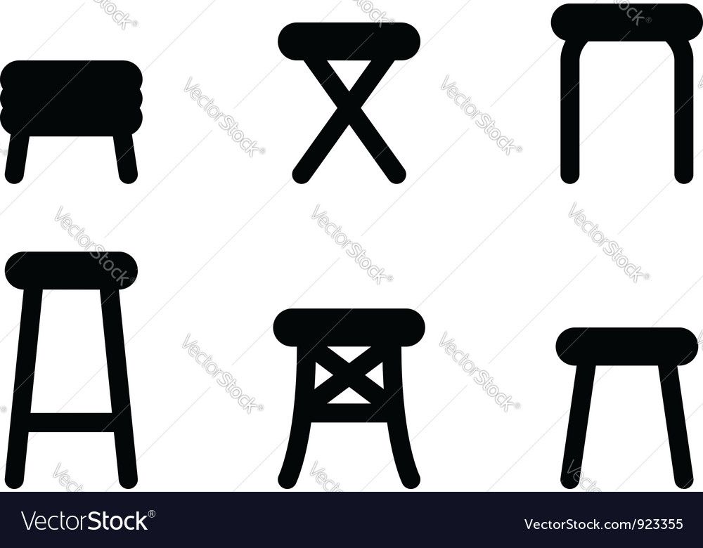 Stool icons vector image