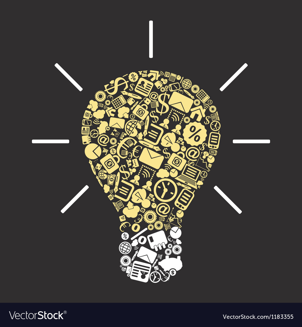 Business a bulb vector image