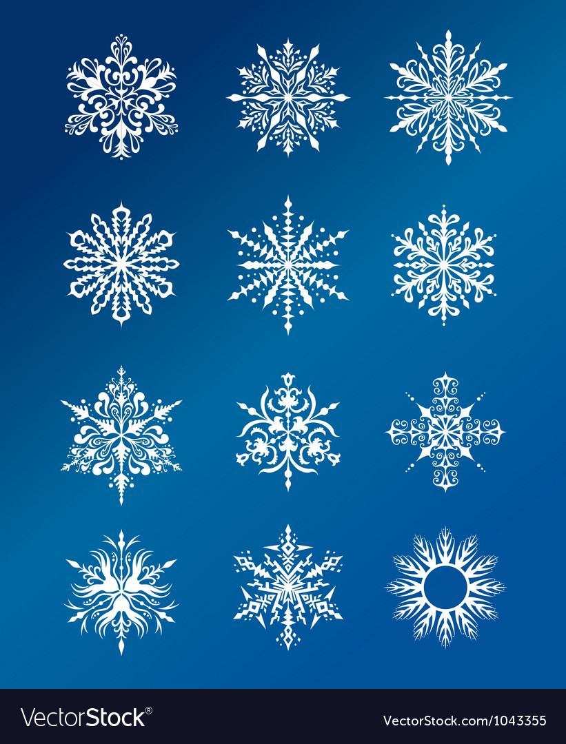 Christmas snowflakes design vector image
