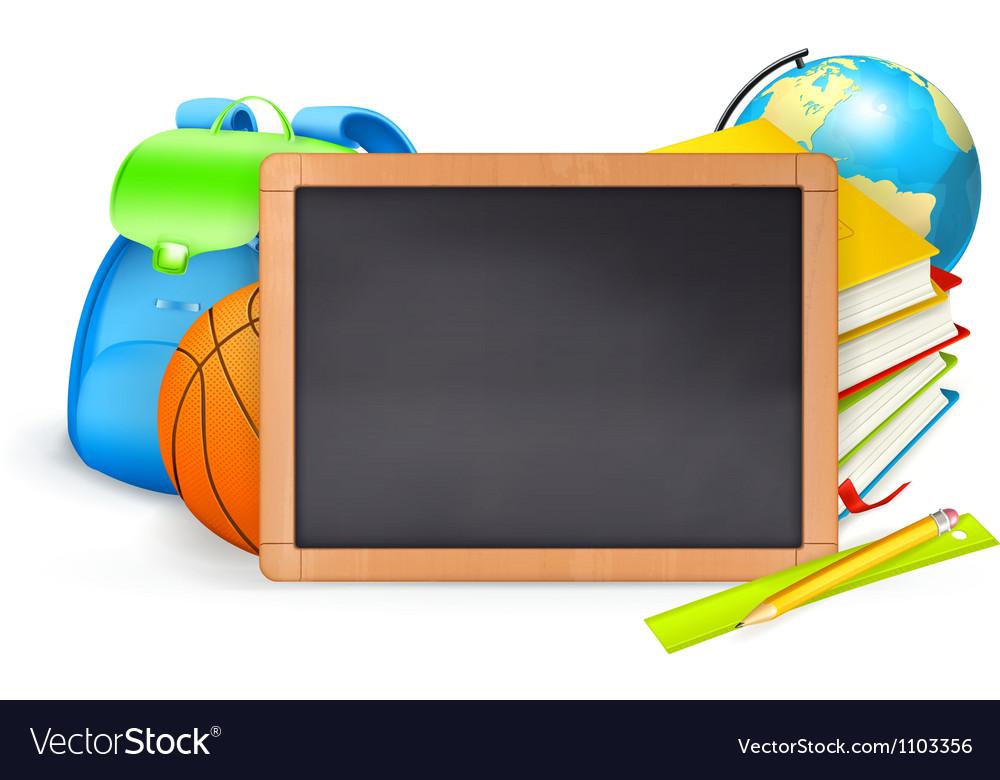 Back to School baner vector image