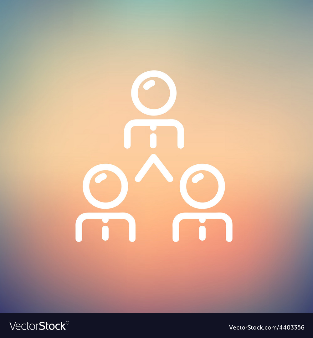 Business team thin line icon vector image