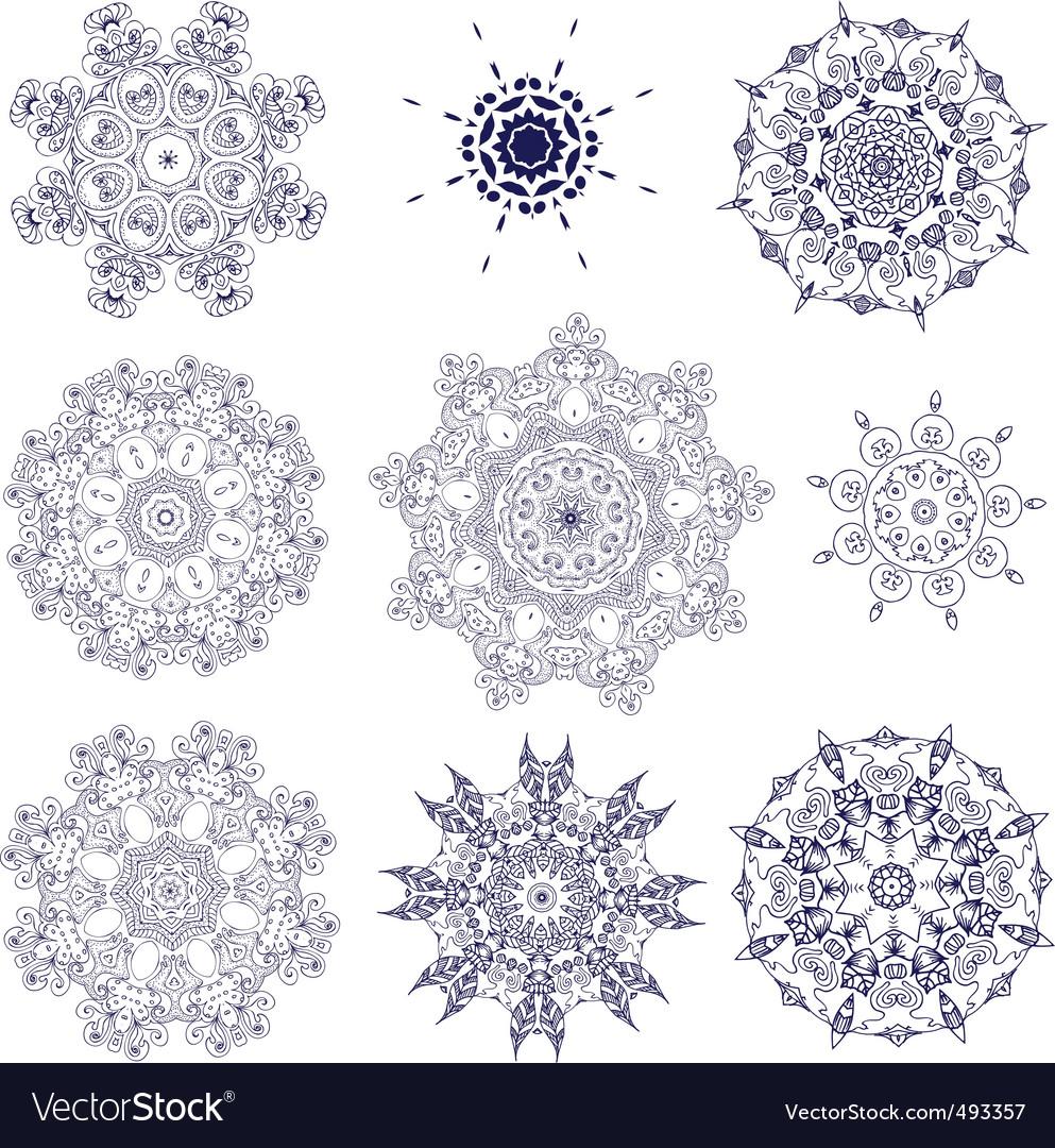 Set arabesque openwork vector image
