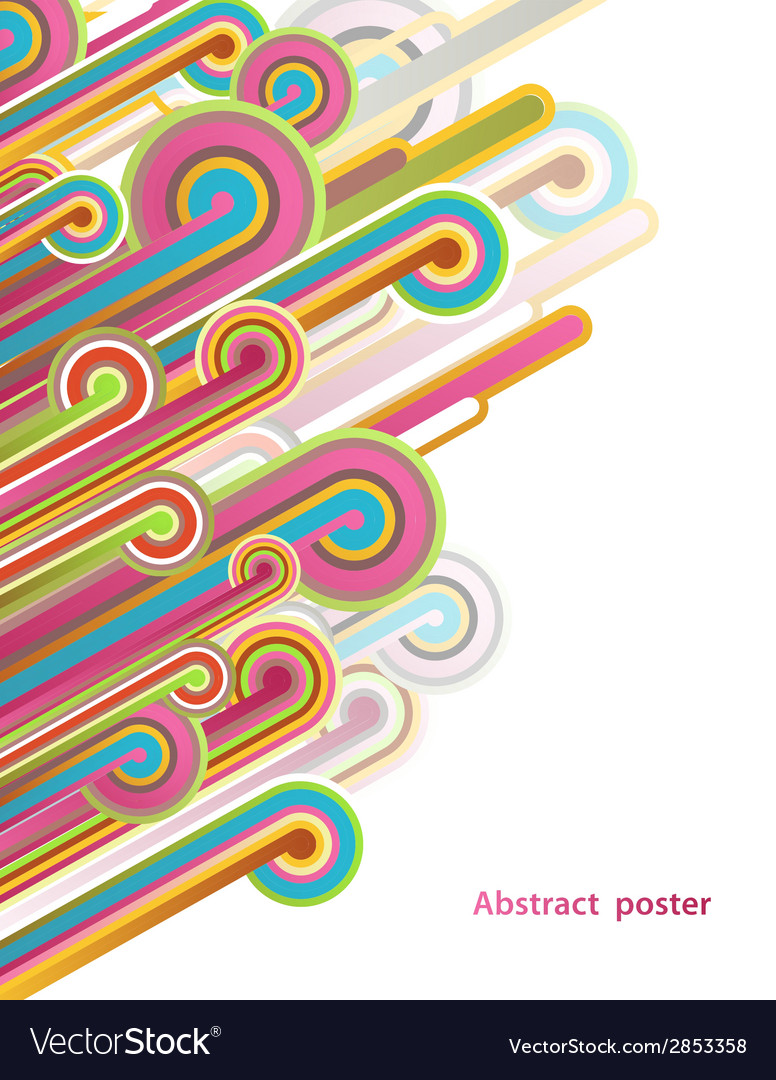Abstract with lines vector image