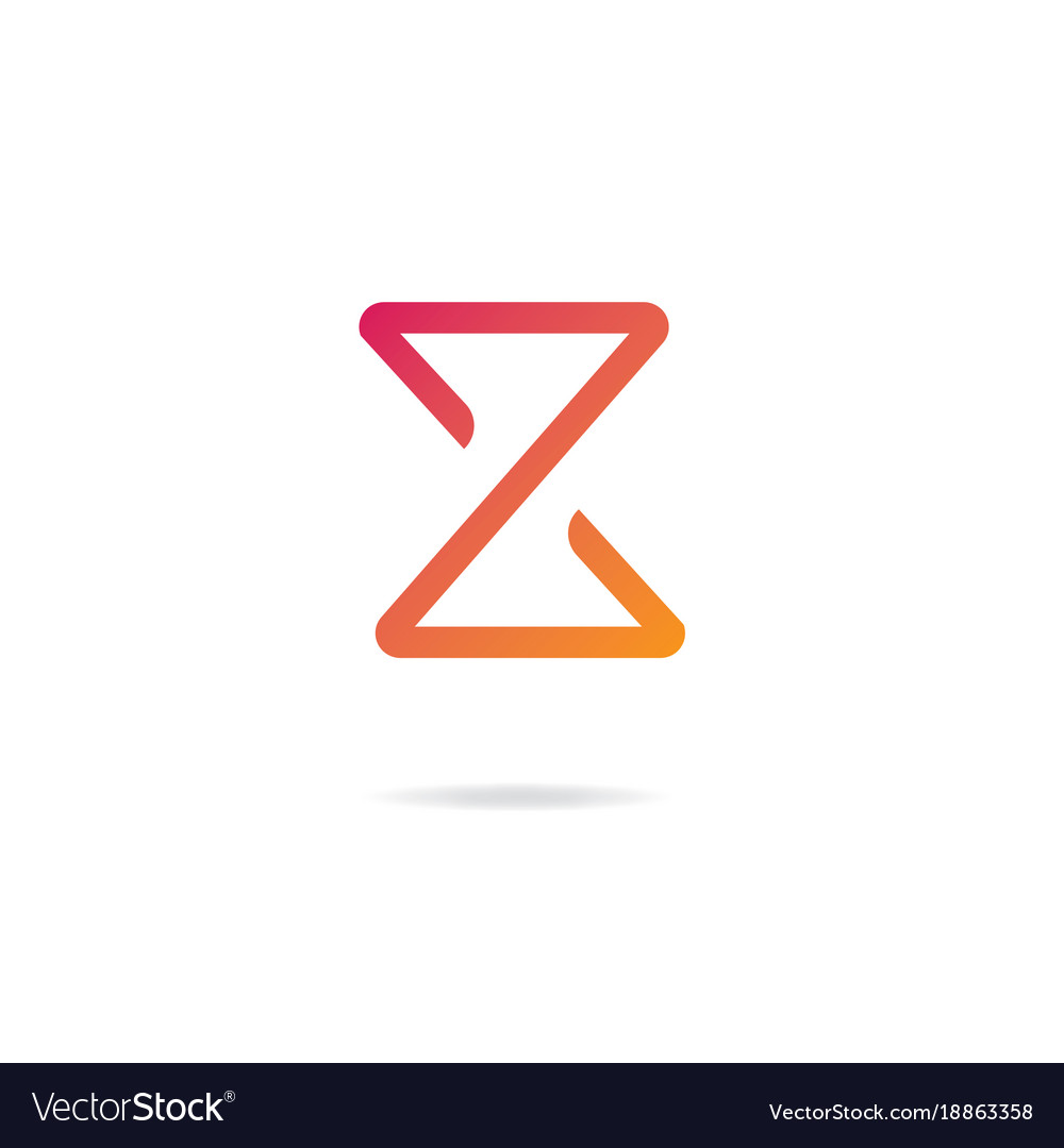 letter z logo design template elements royalty free vector