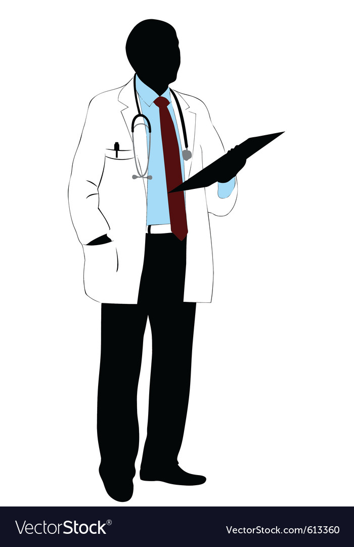 medical doctor silhouette royalty free vector image