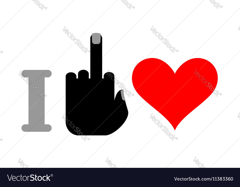 I hate love and heart Logo for unfortunate vector image