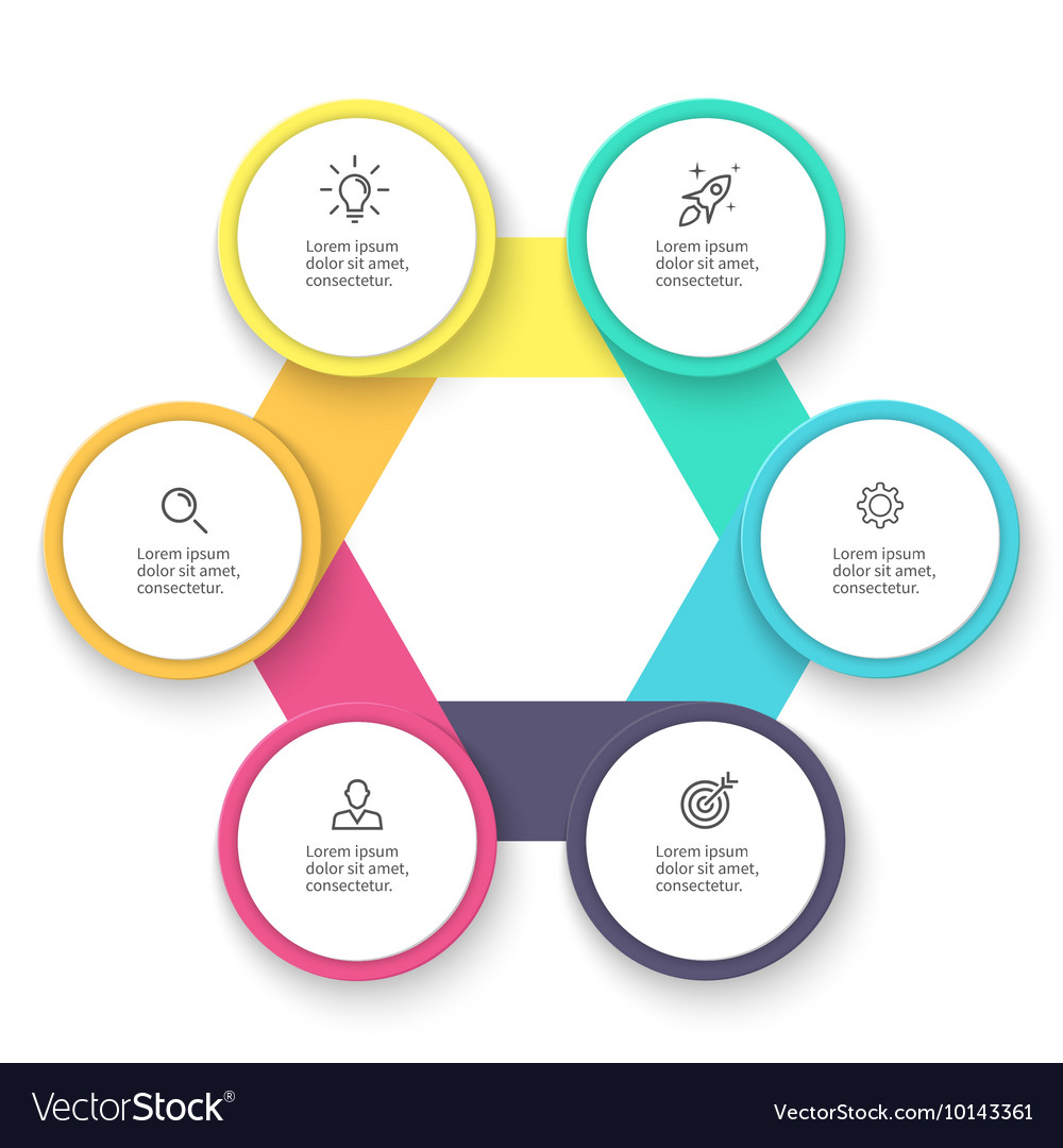 Business infographics Diagram chart graph with vector image