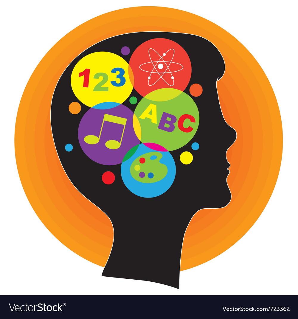 Brain child vector image