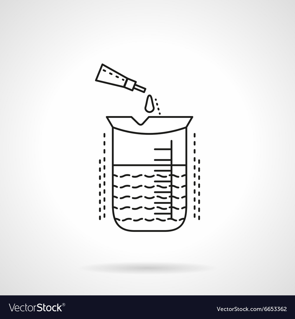 Chemical analysis flat line icon vector image