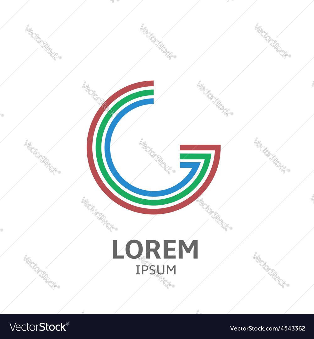 LOREM ipsum G vector image