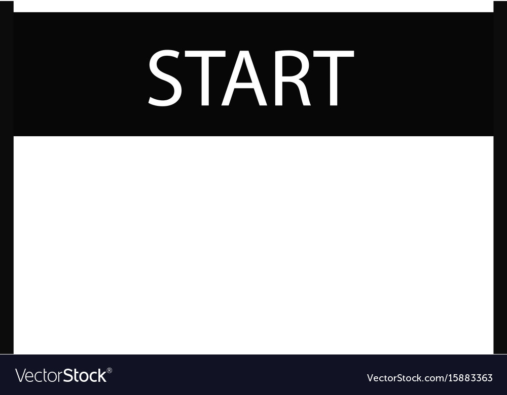 Start icon on white background start sign flat vector image