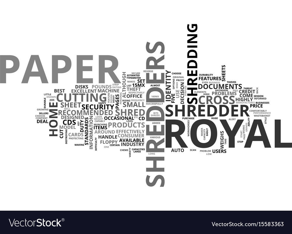 why choose royal paper shredders for the home vector image - Home Shredders