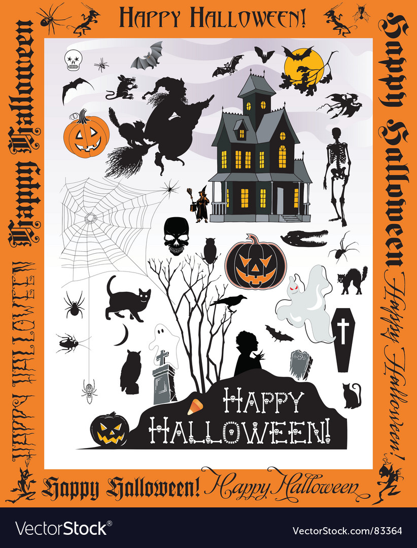 Halloweentown vector image