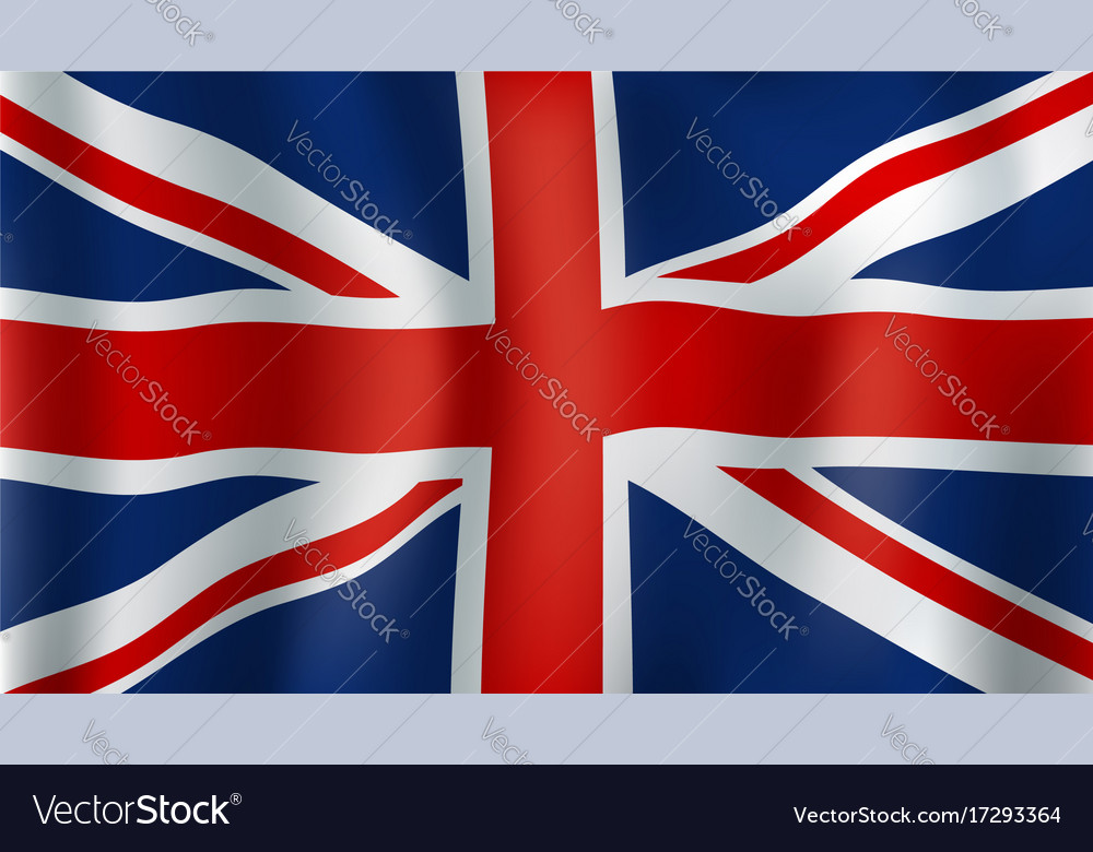 Grean britain or union jack 3d flag vector image